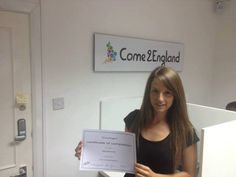 English certificate at Come2England!