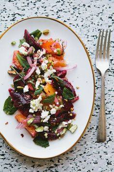 Sicilian-Inspired Blood Orange Salad. Repin if you love citrus!