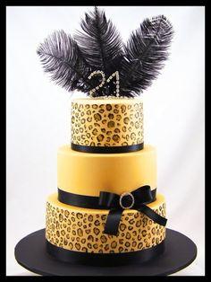 Leopard Print Birthday Cake Josies favorite!