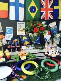 What a great Olympics party! See more party planning ideas at CatchMyParty.com!