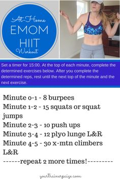 Bodyweight HIIT: EMOM Workout + Breakfast Fish Tacos! - Your Trainer Paige