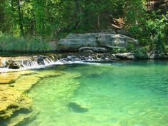 2.) Travertine Creek- Sulphur, OK: Located in Chickasaw National Park, this creek is a popular destination for those wanting a cold and clear place to swim.  Don't forget to bring your tennis shoes and hike the 1.5 mile trail that runs along the creek.
