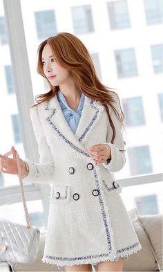 Morpheus Boutique  - White Knit Double Breasted Long Sleeve Jacket Coat, $159.99 (http://www.morpheusboutique.com/new-arrivals/white-knit-double-breasted-long-sleeve-jacket-coat/)