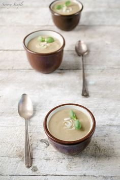This Cream of Shiitake Mushroom and Spring Onion Soup is a rich, flavorful and soothing meal.