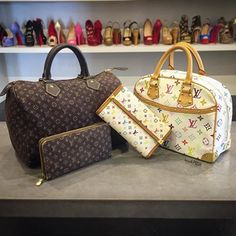 Matching in LV! Shop them now on www.mymoshposh.com! #louisvuitton…