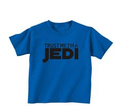 Trust Me Im A Jedi Star Wars Royal Blue Youth Tshirt $15 #jedi #starwars