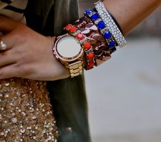 Christine Cameron of My Style Pill - love htis bracelet stack!