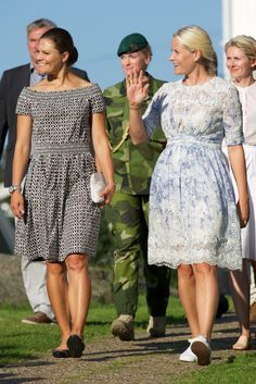 Crown Princess Victoria and Crown Princess Mette-Marit