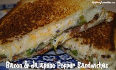 A cross between grilled cheese and jalepeno poppers... yes, please!