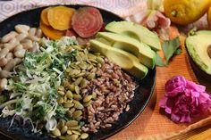 Roasted Beet White Bean Power Bowls with Apple Cider Vinaigrette - Vegan, Gluten-Free, Dairy-Free - recipe by Christy Brissette, media registered dietitian - 80 Twenty Nutrition
