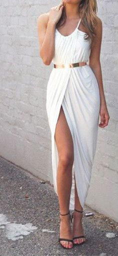 Beautiful White Maxi Dress