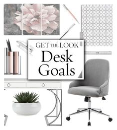 """Desk Goals: Pretty Workspaces"" by glamorous09 ❤ liked on Polyvore featuring interior, interiors, interior design, home, home decor, interior decorating, Worlds Away, Stupell, Faber-Castell and Beyond Object"