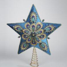 "14"" Regal Peacock Teal Satin Ornately Beaded Star Christmas Tree Topper - Unlit Kurt Adler,http://www.amazon.com/dp/B005CWTU66/ref=cm_sw_r_pi_dp_KNTbtb11T3MFP2RW"