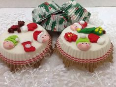 24 Fondant Christmas mini set