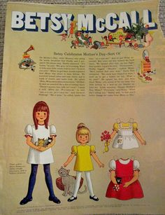 Vintage 1970 Betsy McCall Paper Dolls from Magazine LG Format 7 Pages Uncut | eBay