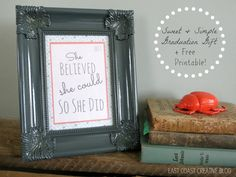 Sweet + Simple Graduation Gift and Free Printable! -- Tatertots and Jello