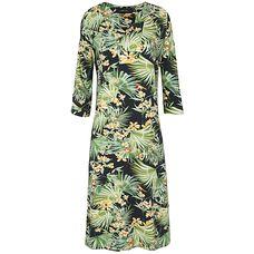 Vestido túnica Fillity tropical - verde