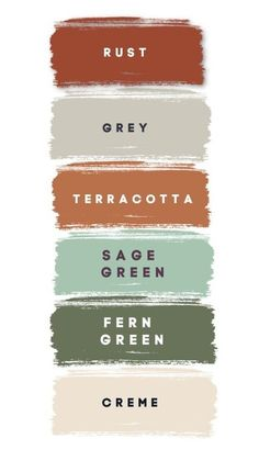 Colour Pallete, Colour Schemes, Wedding Color Schemes, Color Combos, Green Color Palettes, Sage Color Palette, Paint Color Palettes, Rustic Color Palettes, Green Paint Colors
