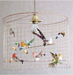60 best Ideas for diy kids room lighting lamp shades Birdcage Light, Birdcage Chandelier, Diy Chandelier, Chandeliers, Cage Light Fixture, Balloon Ceiling, Tattoo Diy, Tattoo Ideas, Bird Cage Centerpiece
