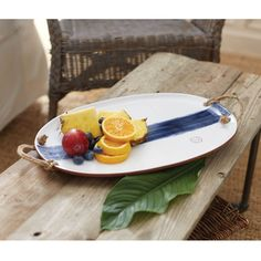 indigo blue terracotta platter