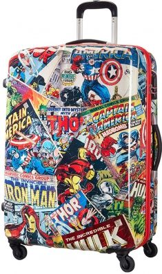 American Tourister Marvel Legends 4-Rad Trolley 75cm Marvel Comics Comichelden Spiderman #JessicaJones #Captainamerica #Ironman #hulk #Thor Captain America the Avengers Comiclove Marvelstories