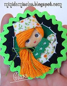 Minidamiselas, muñecas de broche románticas y coquetas: camafeos