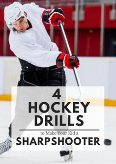 4 Hockey Drills to Make Your Kid a Sharpshooter Although there are professional and collegiate teams that prioritize defensive-minded play (look no further than the NHL come playoff time), hockey rema Hockey Workouts, Hockey Drills, Hockey Players, Dek Hockey, Baseball Match, Hockey Shot, Inline Hockey, Montreal, Hockey Training