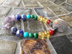 7 Chakra bracelet by JewelrybyALEE on Etsy, $25.00