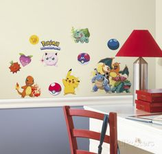 Pokemon Iconic Peel and Stick Wall Decals Wall Decal at AllPosters.com