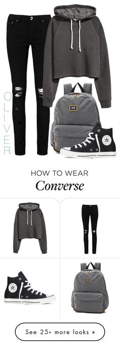 """#32"" by eli-butch on Polyvore featuring Boohoo, H&M, Vans and Converse"