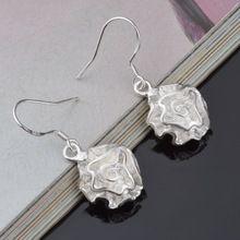Sterling - argent - bijoux pendientes mujer boucles d'oreilles 925 brincos plata boucles d'oreilles boucles orecchini oorbellen femmes bijoux fleur 925(China (Mainland))
