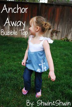 Anchor Away Bubble Top tutorial from Shwin and Shwin