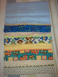 Varias ideas de paños con bordes en en tela para bebe