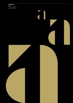 MuirMcNeil Cut. A stencil typeface in three weights.