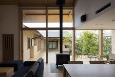 Hiiragi's House is a minimal residence located in Ehime, Japan, designed by Takashi Okuno & Associates.
