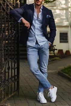 How To Wear Simple Outfits And Look Sharp is part of Mens fashion trends - Simple & Sharp Mens Fashion Blog, Mens Fashion Suits, Men's Fashion, Fashion Ideas, Fashion Trends, Trendy Mens Fashion, Daily Fashion, Mens Spring Fashion Outfits, Autumn Outfits