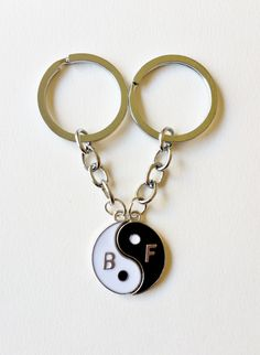 Best Friend Yin Yang Key Chains - friendship keychain, best friend keyrings…