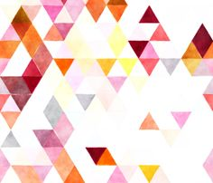 sorbet watercolor triangles // oversized fabric by ivieclothco on Spoonflower - custom fabric