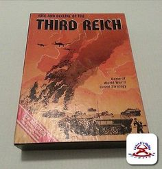 Rise & Decline of the Third Reich Game WWII Strategy 3rd Edition partial punched #AvalonHill