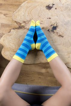 ADD A FUN & FUNKY TOUCH TO EVERY OUTFIT with the Socks n Socks premium cotton socks, which are here to dazzle everyone with their colorful design and trendy patterns! COMFORT,LUXURY & STYLE AT YOUR FEET! Our business socks for everyone are made from 80% Turkish super-soft cotton, 18% nylon and 2% spandex, in order to offer your feet a comfy, snug and perfect fit! Make a statement and put your best foot forward! 100% TRENDY STYLE OR YOUR MONEY BACK! That's our unconditional guarantee! If you… Cute Socks, My Socks, Leggings Funny, Sock Leggings, Surprise Your Girlfriend, Yellow Sky, Crazy Socks, Striped Socks, Happy Socks