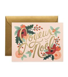 Joyeux Noël Card - Rifle Paper Co.