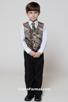 Boys Vest and Long Tie Set