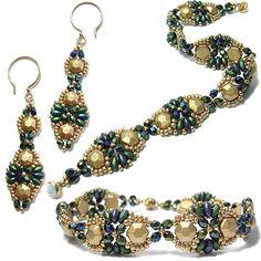 Babette Bracelet & Earrings at AroundTheBeadingTable.com