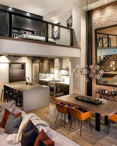 Que maravilhoso esse loft Projeto Denton House Design •••••••••••••••••••••••• CONHEÇA TAMBÉ
