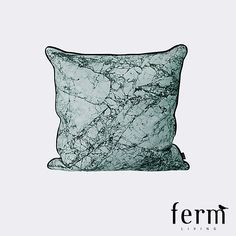 Ferm Living Marble Cushion Dusty Blue available at LoftModern.com