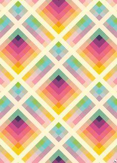 geometric, retro, colourful, purple...