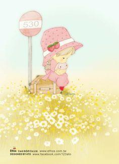 Assortment of adorable illustrations. Kawaii Drawings, Cute Drawings, Cute Images, Cute Pictures, Cute Cartoon, Cartoon Art, Cute Clipart, Baby Art, Illustration Girl