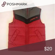 ⏬$18⏬Boys Tony Hawk Vest Perfect for fall Boy's Tony Hawk Insulated Vest Red/Gray/Black, Size 4 in EXCELLENT PREOWNED CONDITION.   Features include a full zipper front, and 2 velcro closure, side slant, deep pockets.  Tony Hawk Shirts & Tops Sweaters