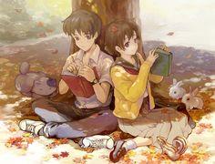 Shizuku Tsukishima and Seiji Amasawa   Whisper of the Heart [Mimi o Sumaseba]