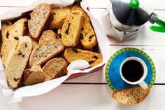 Almond Cherry Biscotti with Citrus - Try these while you're enjoying your morning cup of joe. #CanolaInfo #CanolaRecipes